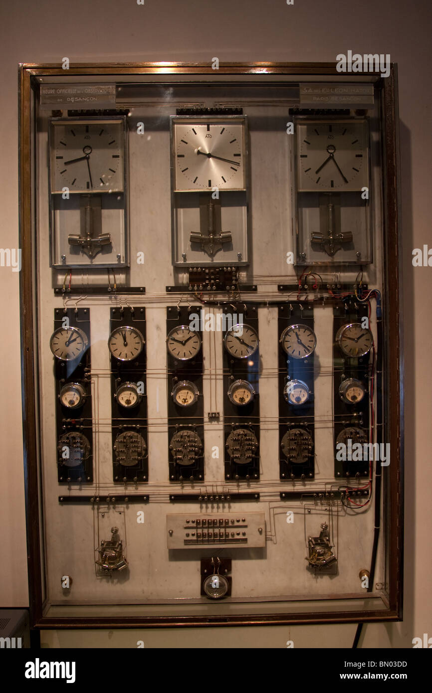 Clocks time zones stock photos clocks time zones stock images alamy old clocks pendulums displayed cabinet time zones stock image sciox Image collections