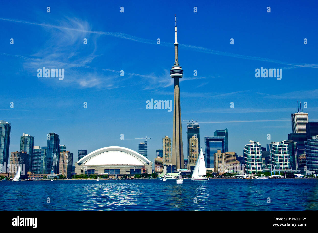 toronto skyline and waterfront - Stock Image