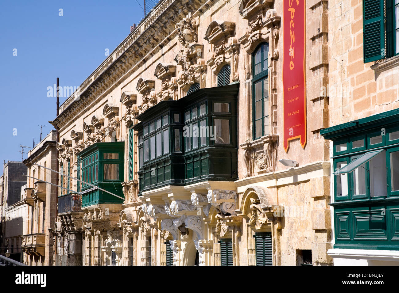 house front in the old town of valletta malta stock photo 30198531 rh alamy com