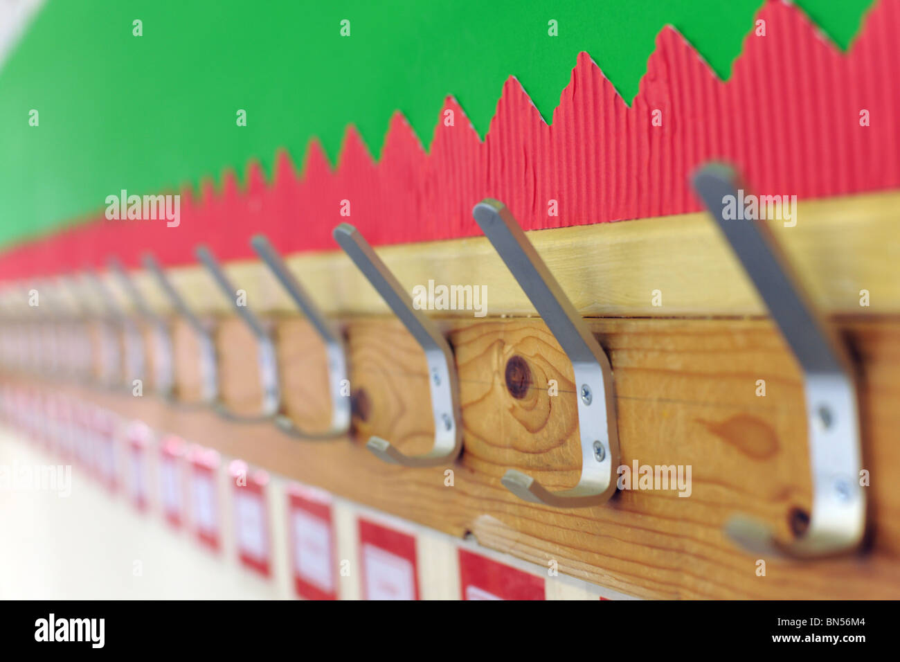 school pegs - Stock Image