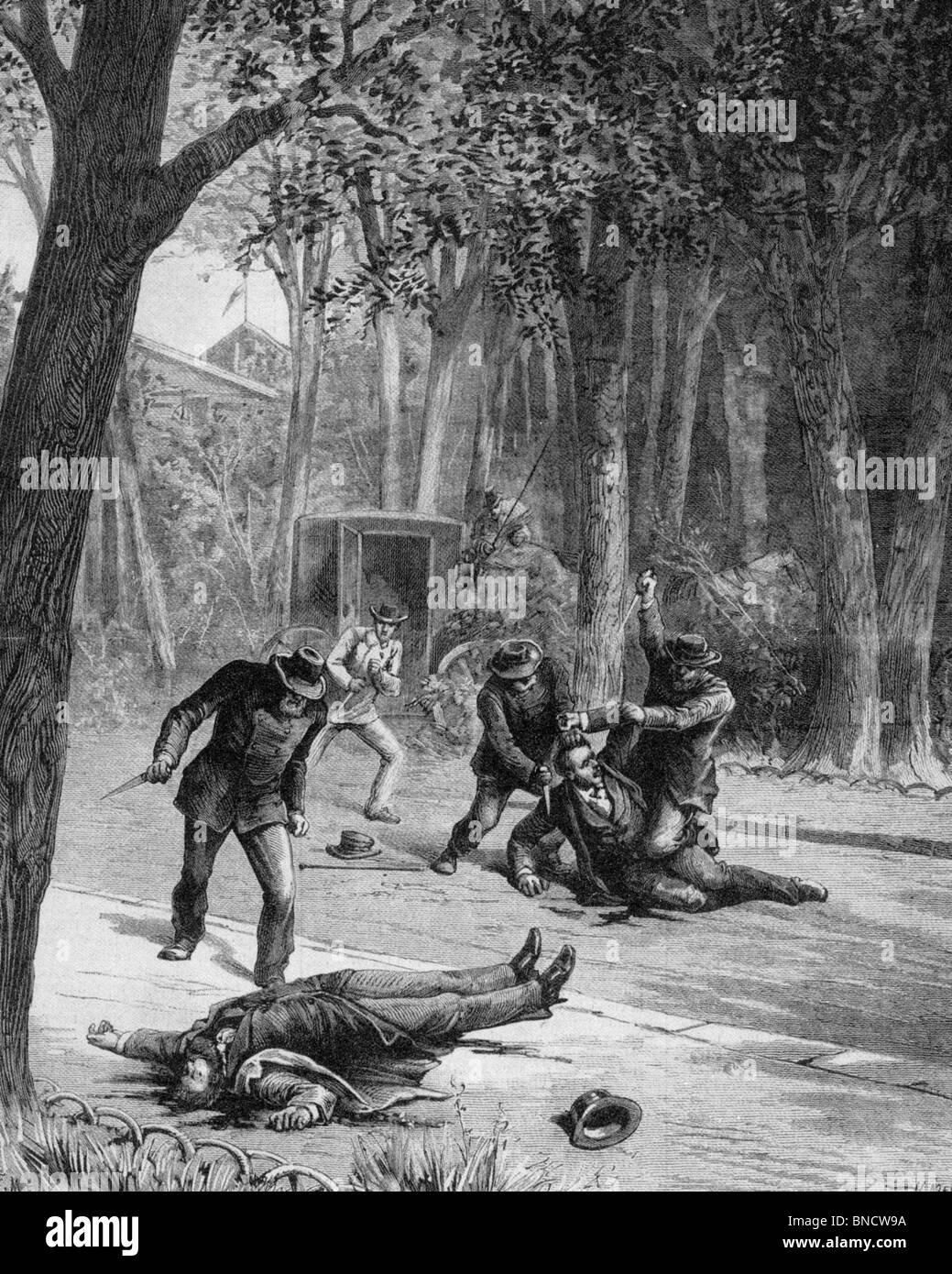 THE PHOENIX PARK MURDERS OF LORD FREDERICK CAVENDISH and Thomas Burke 6 May 1882 - see Description below Stock Photo