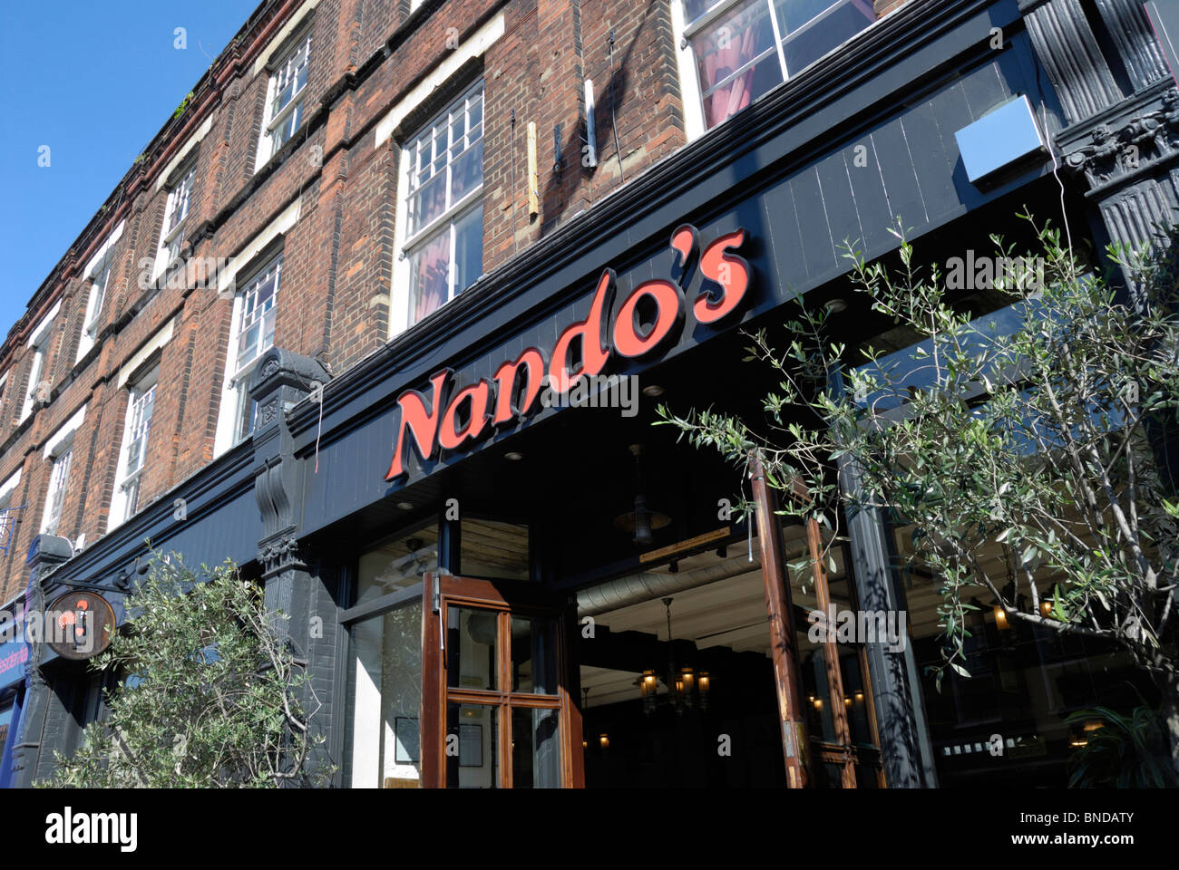 Nando's restaurant in Islington, London, England Stock Photo