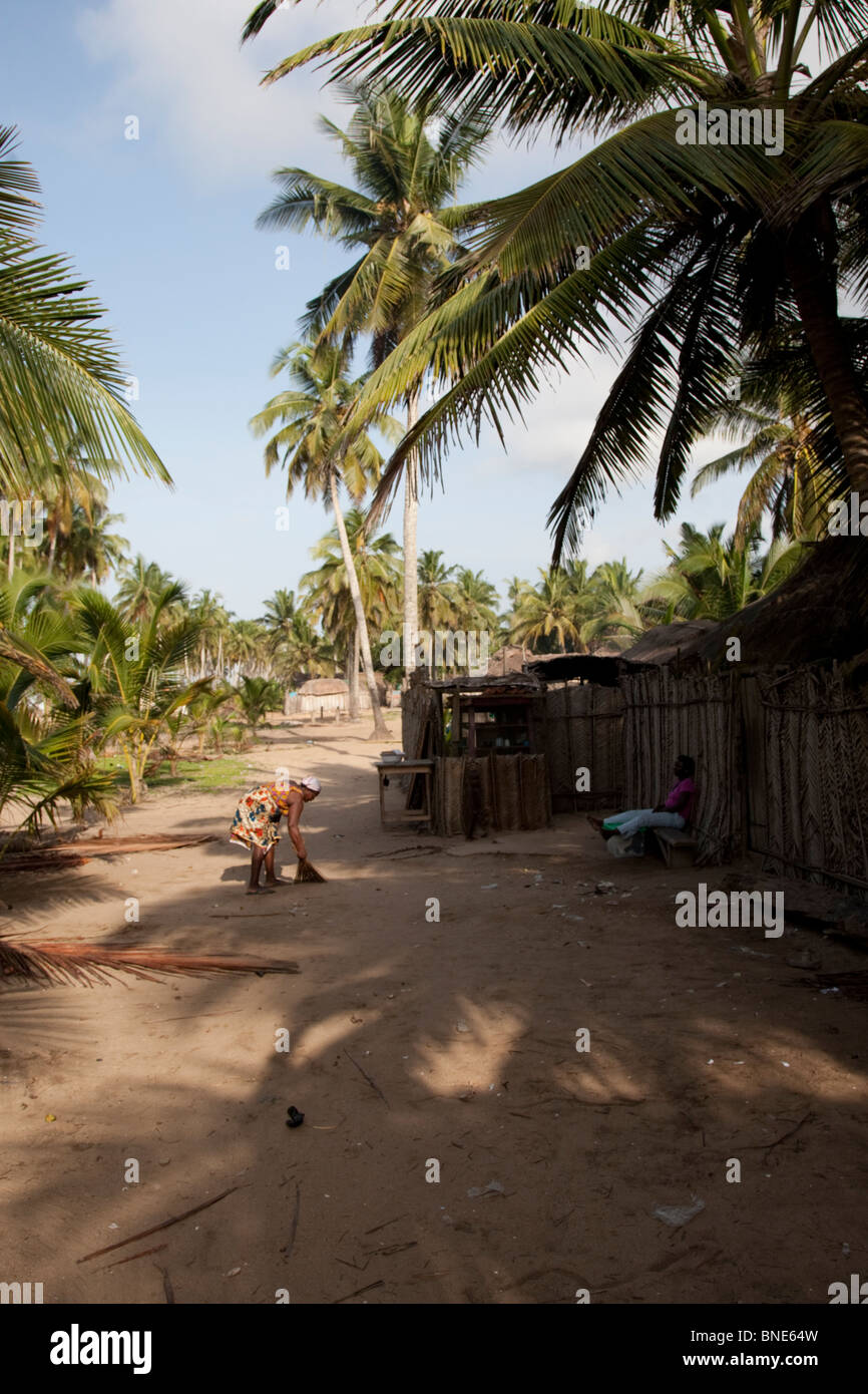 The Ewe village of Akosu, near Winneba, Ghana. - Stock Image