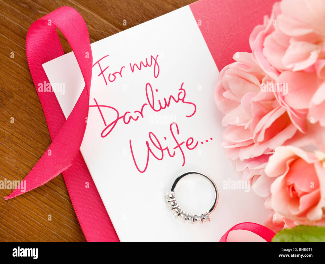 Romantic greeting card for your wife stock photo 30438702 alamy romantic greeting card for your wife m4hsunfo Gallery
