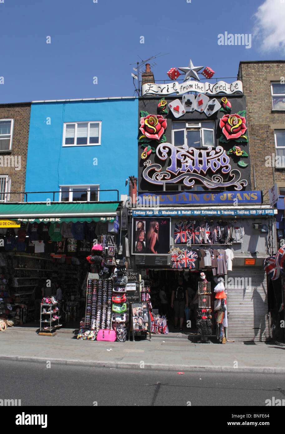 Fashion And Tattoo Shops Along Camden High Street London July 2010