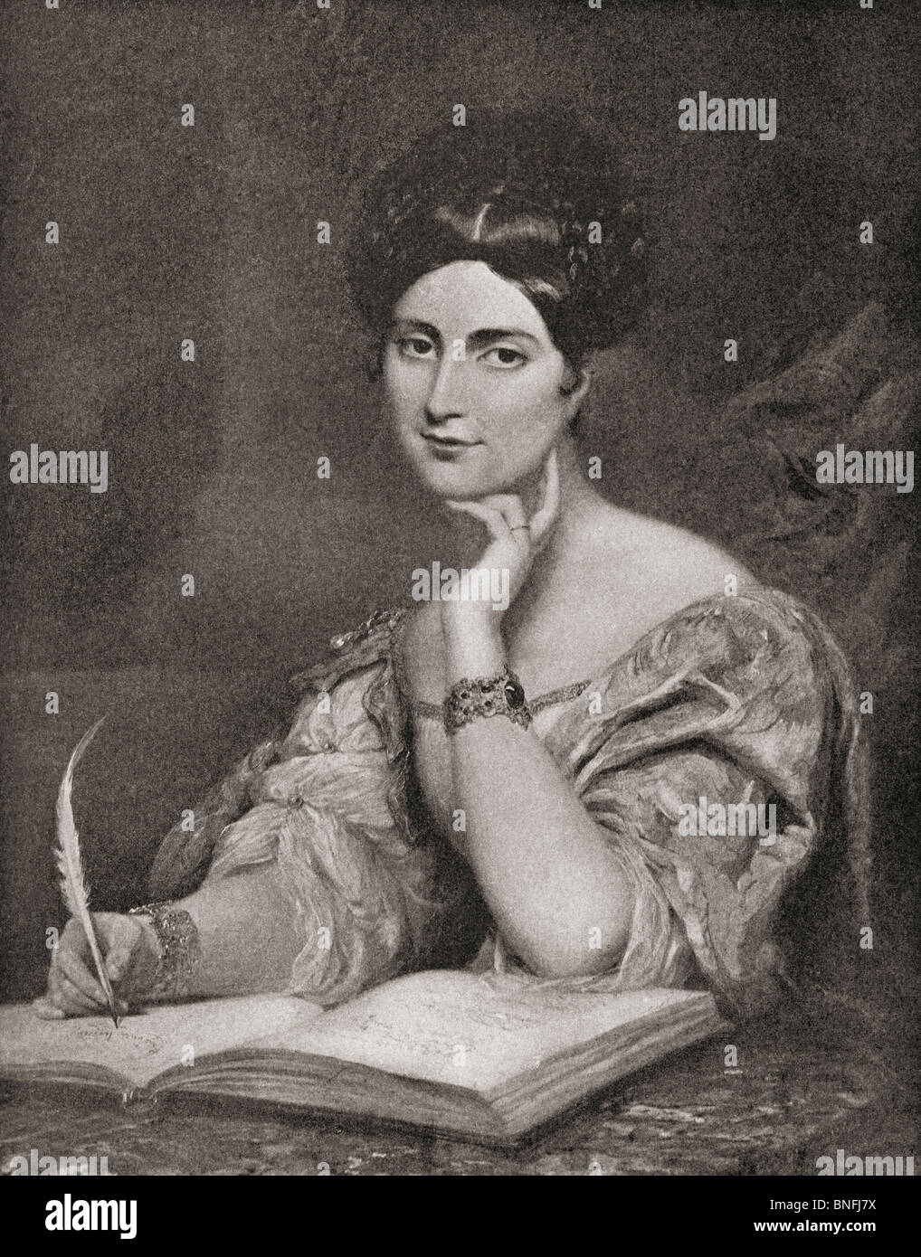 The Honourable Mrs Caroline Norton, 1808 to 1877. English author and reformer. - Stock Image