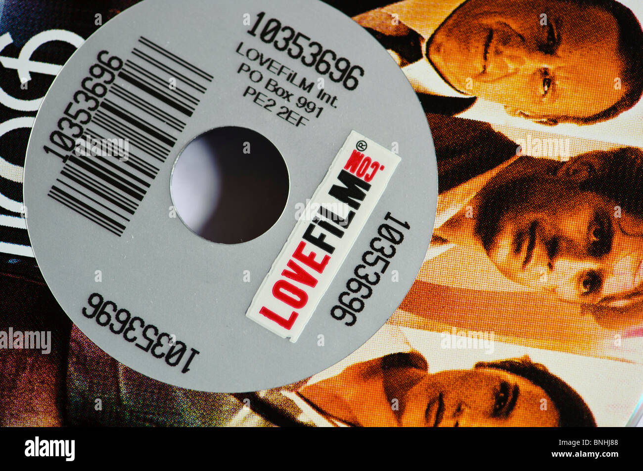 Lovefilm.com dvd rental by post, UK - Stock Image