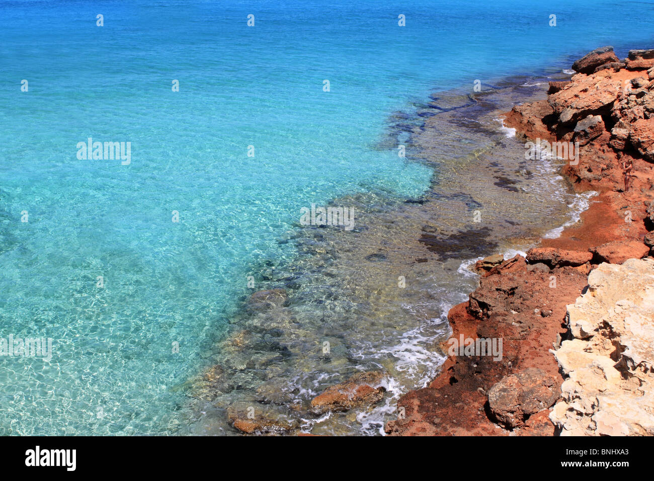 Formentera Cala Saona mediterranean best beaches Balearic Islands Stock Photo