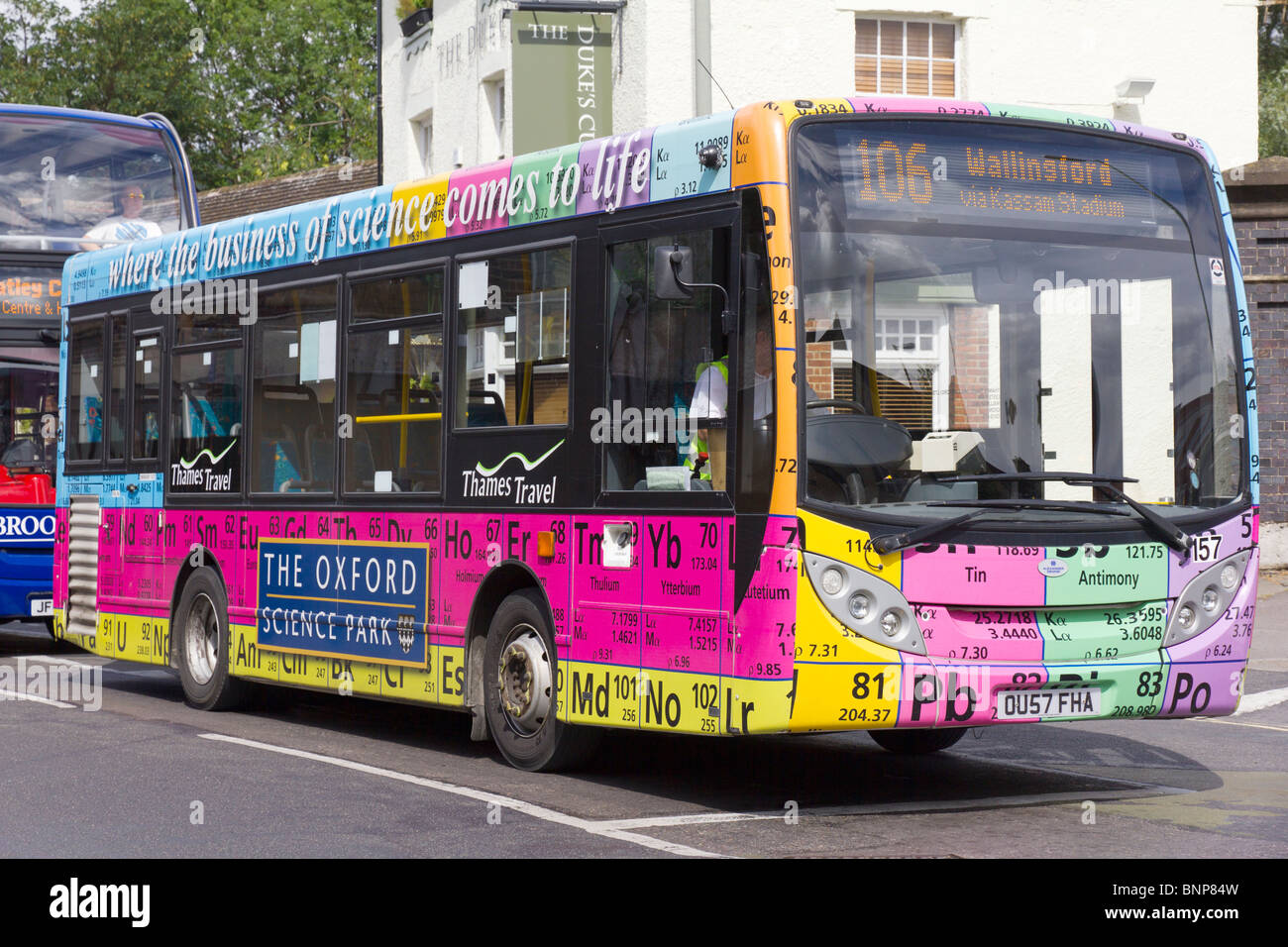 Bus with periodic table of elements oxford stock photo 30607497 bus with periodic table of elements oxford urtaz Image collections