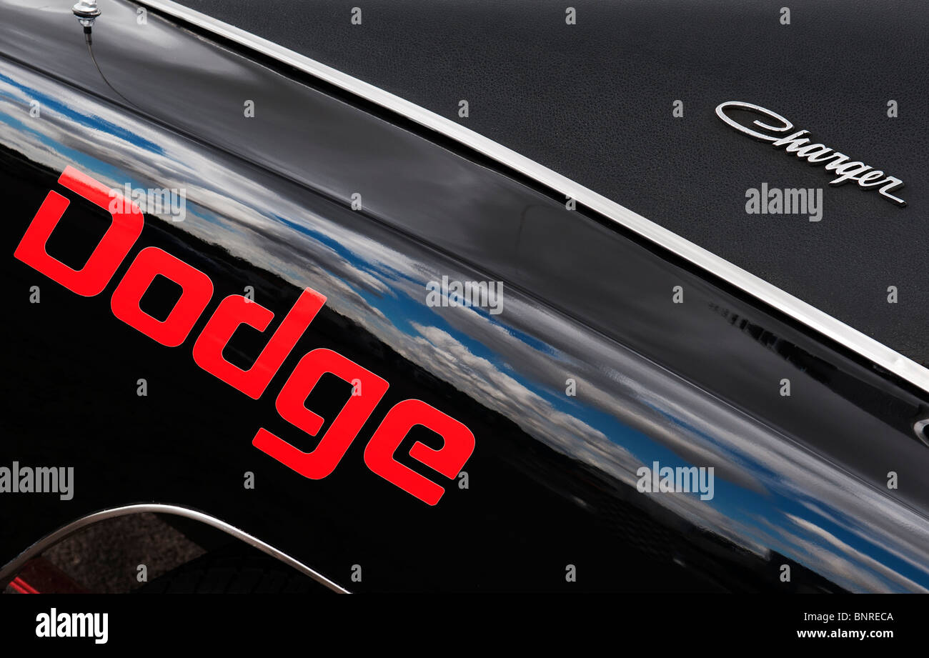 Dodge Charger American Muscle Car At Santa Pod Raceway England
