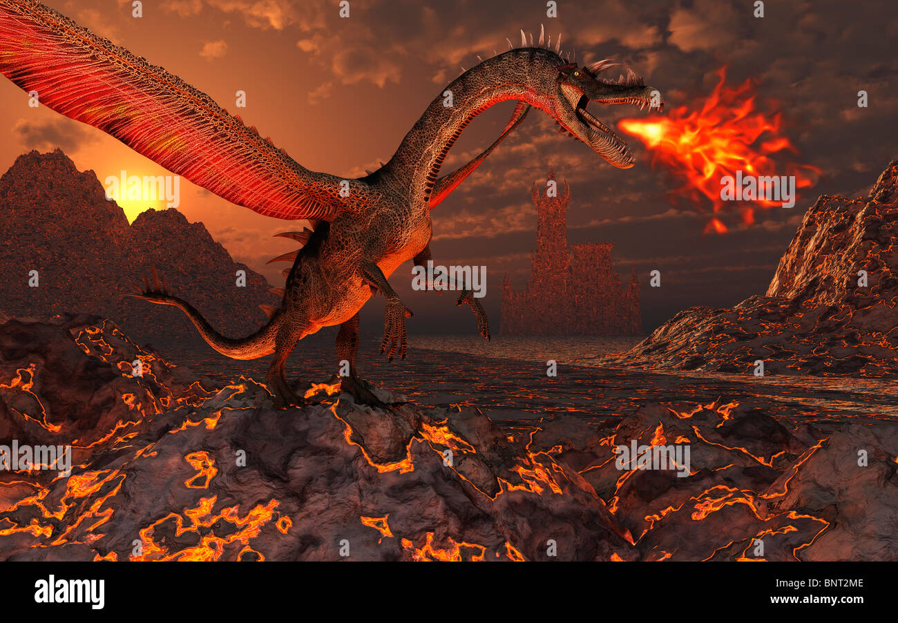 Where Dragons Dwell.2. - Stock Image