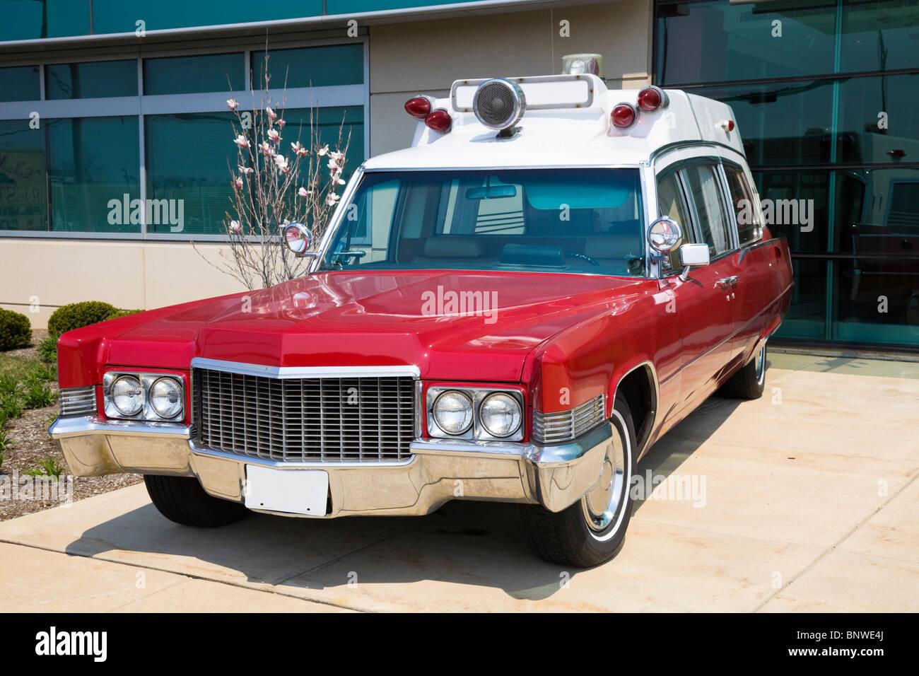 Retro ambulance - Stock Image
