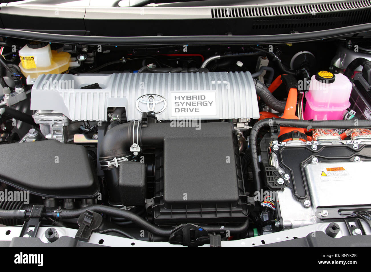 A Toyota hybrid engine. - Stock Image