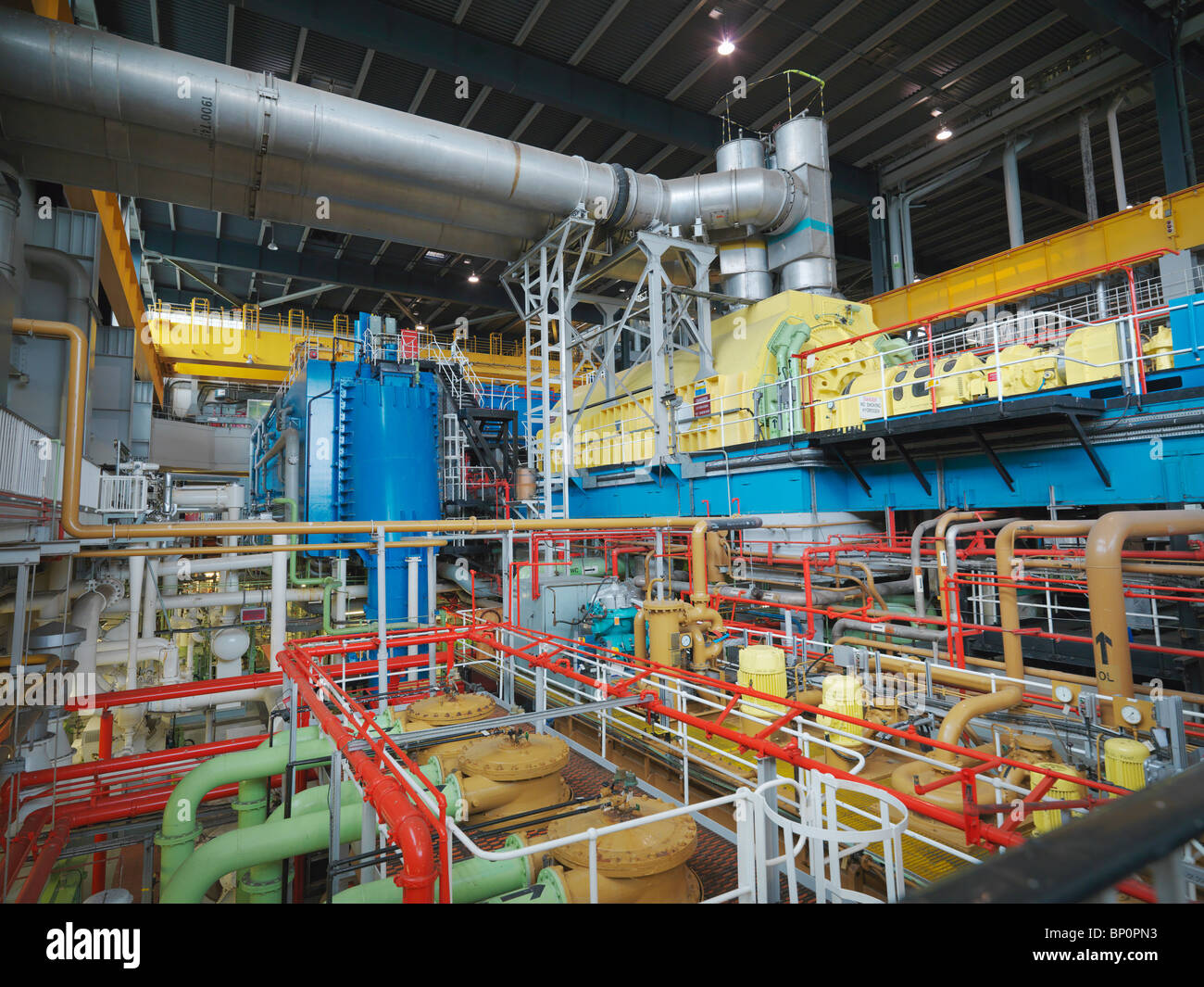 Turbine Hall of Nuclear Power Station - Stock Image