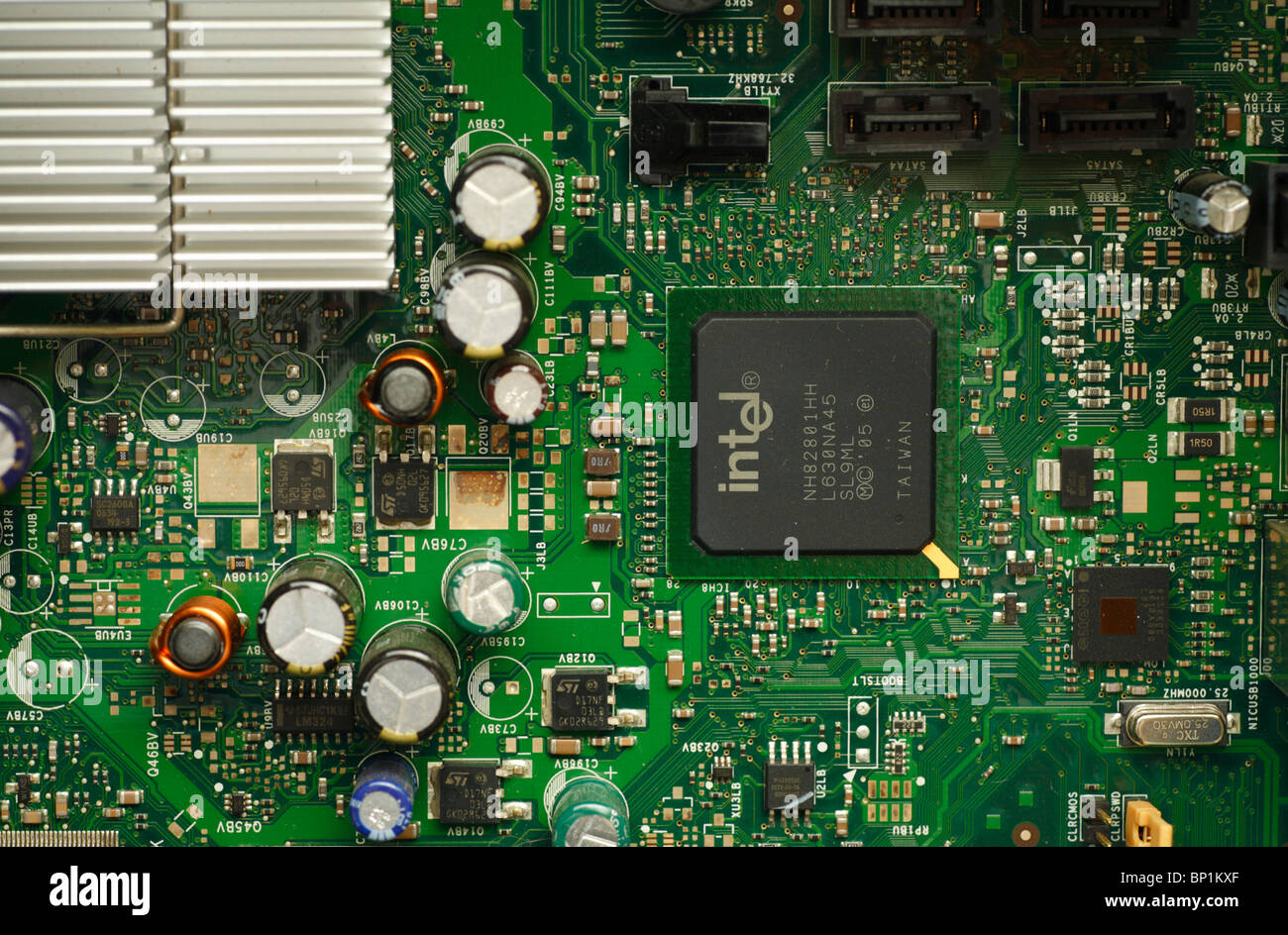 circuit board with electronic components inside a computer stock rh alamy com Circuit Board 1920X1080