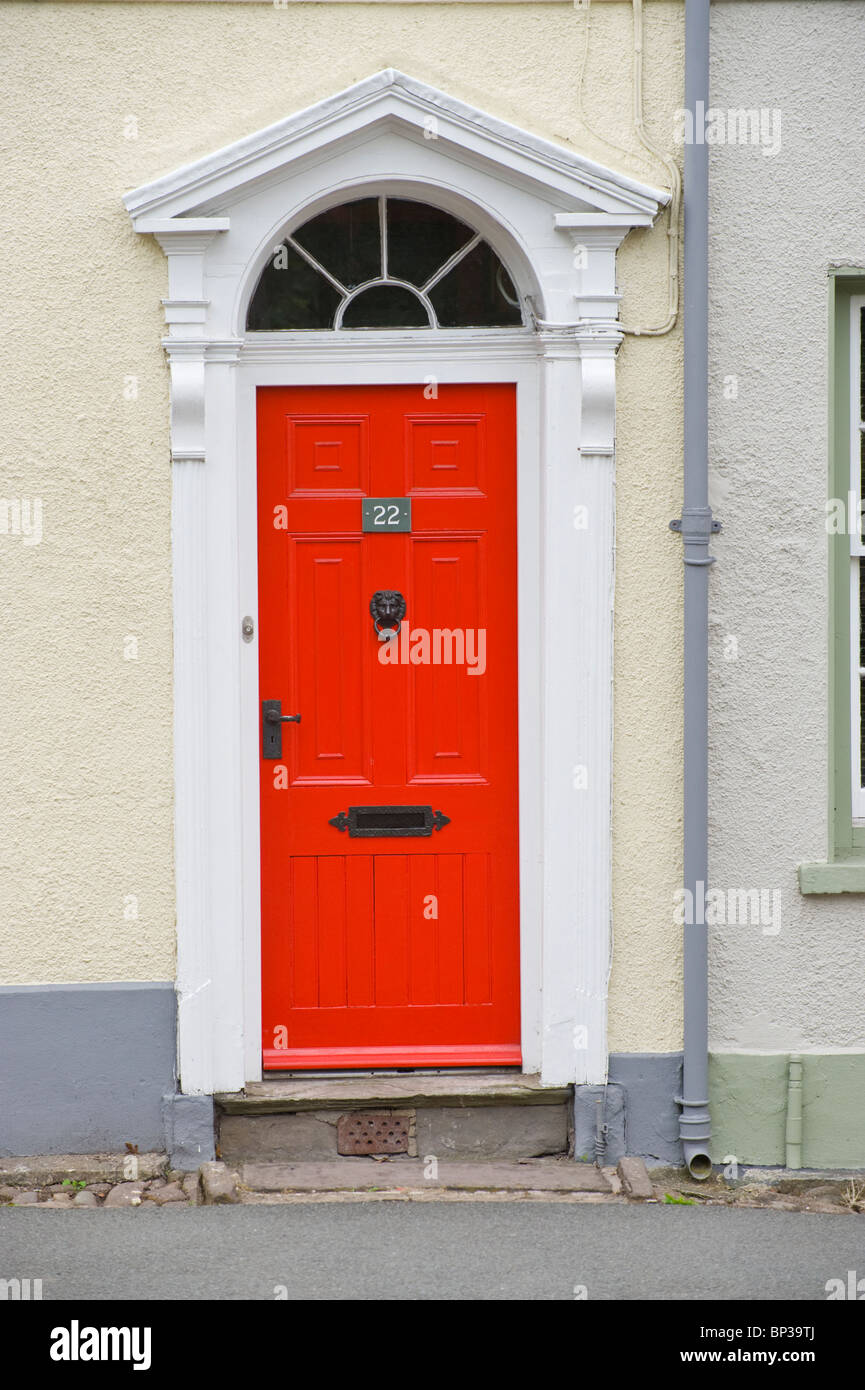 Red Painted Wooden Paneled Front Door No 22 With Black Handle Stock & Scintillating Front Door Letterboxes Uk Contemporary - Ideas house ...
