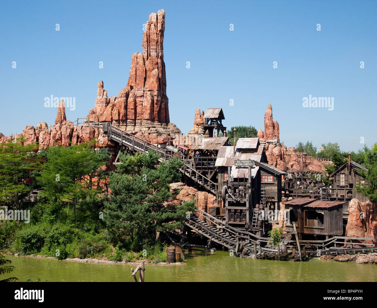 Big Thunder Mountain Roller Coaster, Disneyland Paris Stock Photo