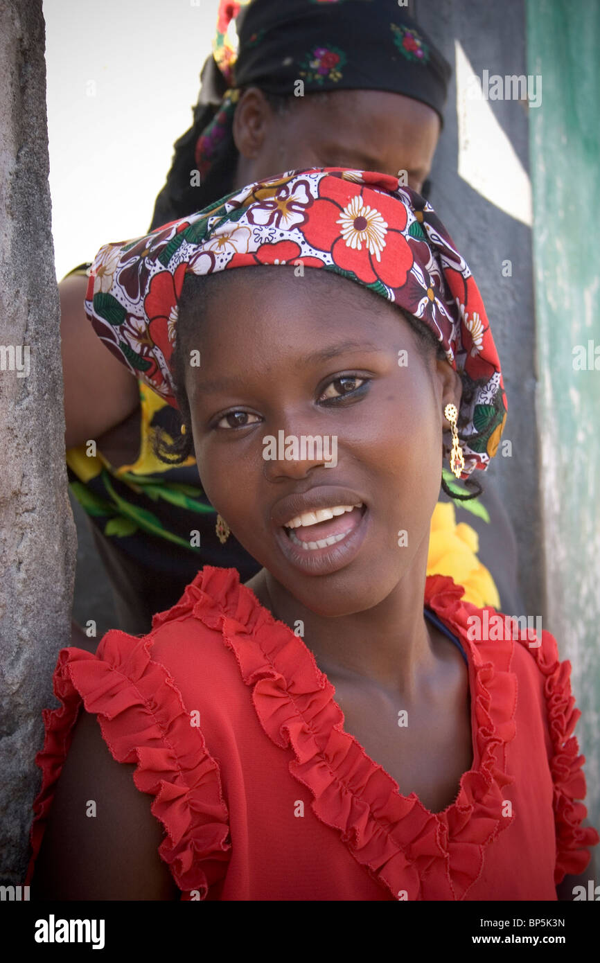 Young mozambican woman, Ilha de Mozambique, Mozambique - Stock Image