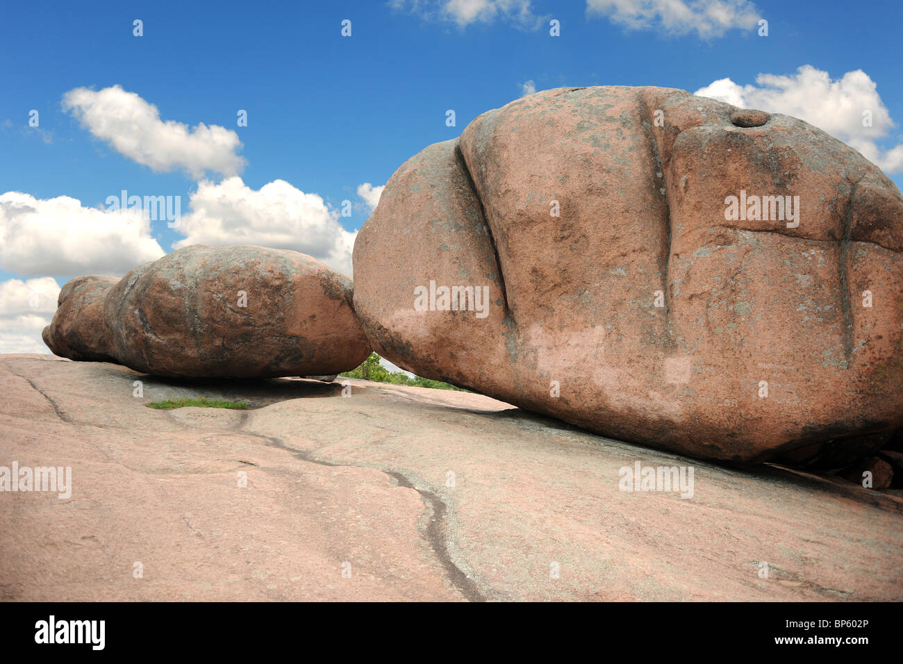 Rock formations at Elephant Rock in Missouri - Stock Image
