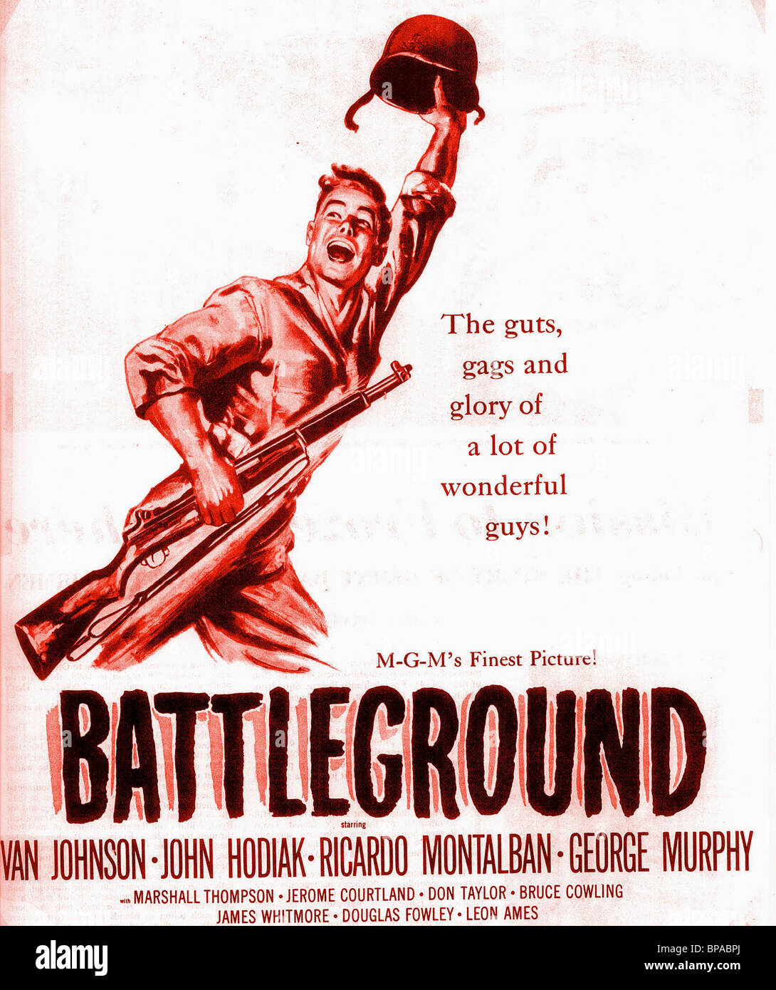 FILM POSTER BATTLEGROUND (1949) - Stock Image