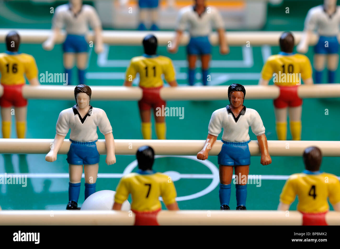Table football players - Stock Image