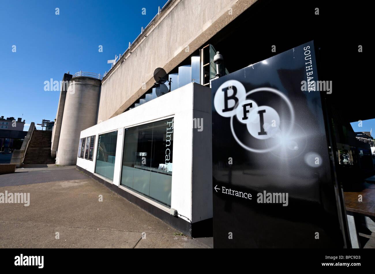 South Bank BFI entrance - Stock Image
