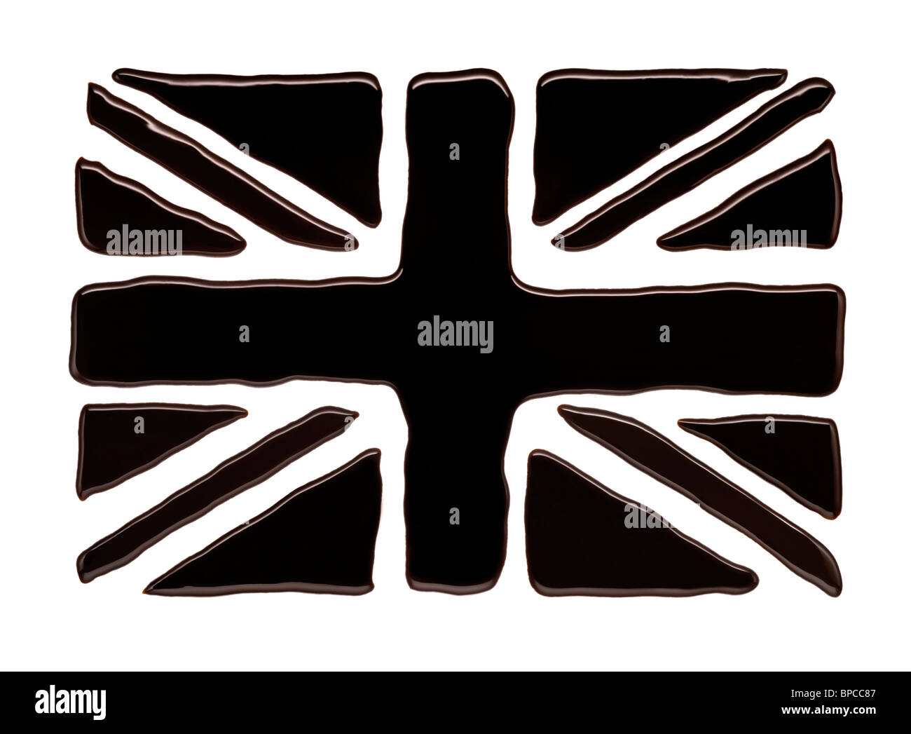 The Union Jack Flag made of Oil - Stock Image