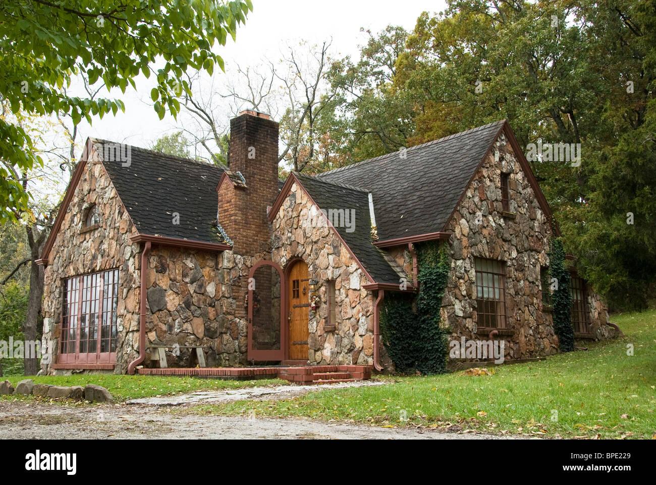 Laura Ingalls Wilder Historic Home Rocky Ridge Rock House Mansfield Missouri USA Stock Photo