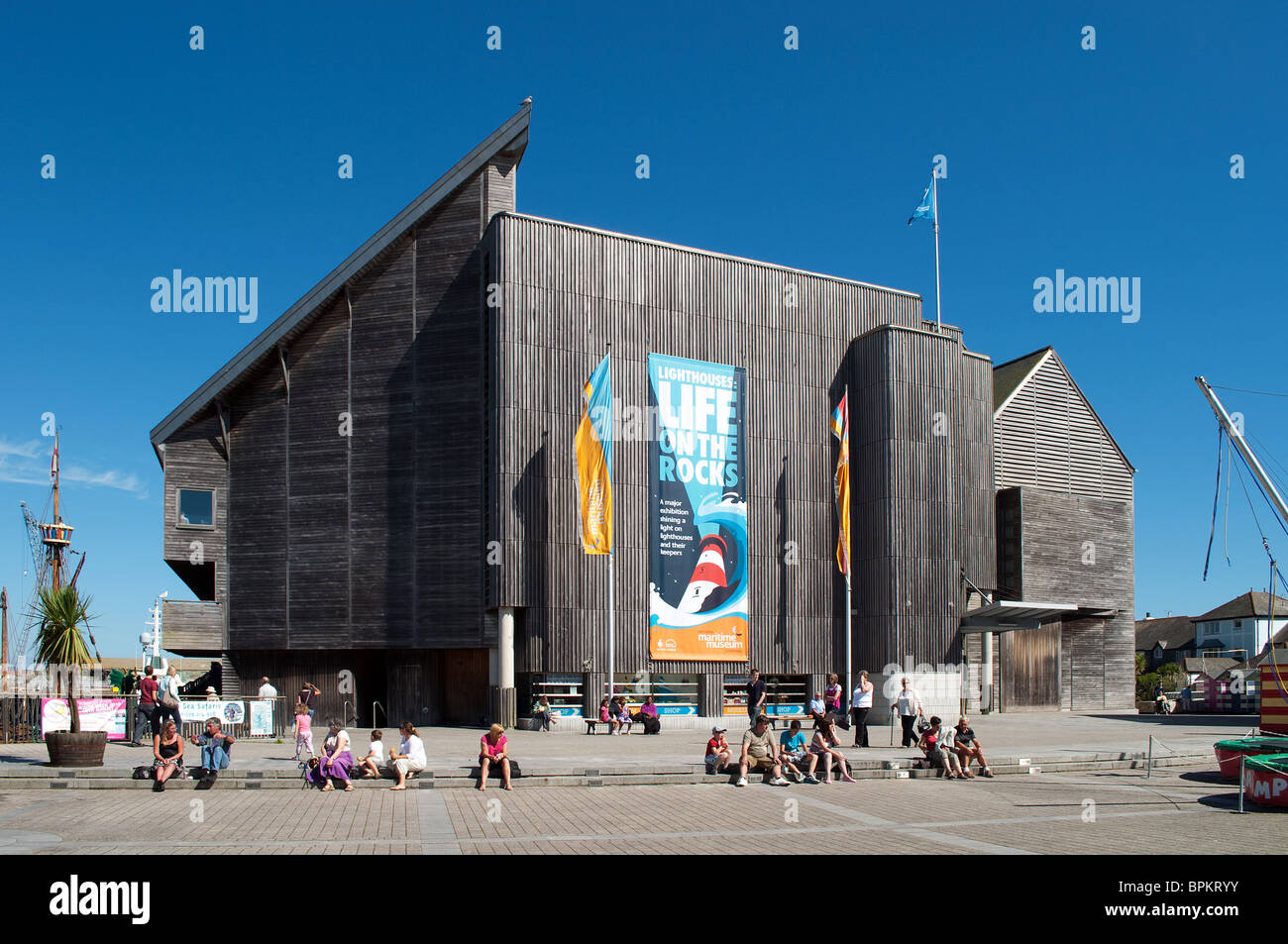 The Maritime museum in Falmouth, Cornwall, UK - Stock Image