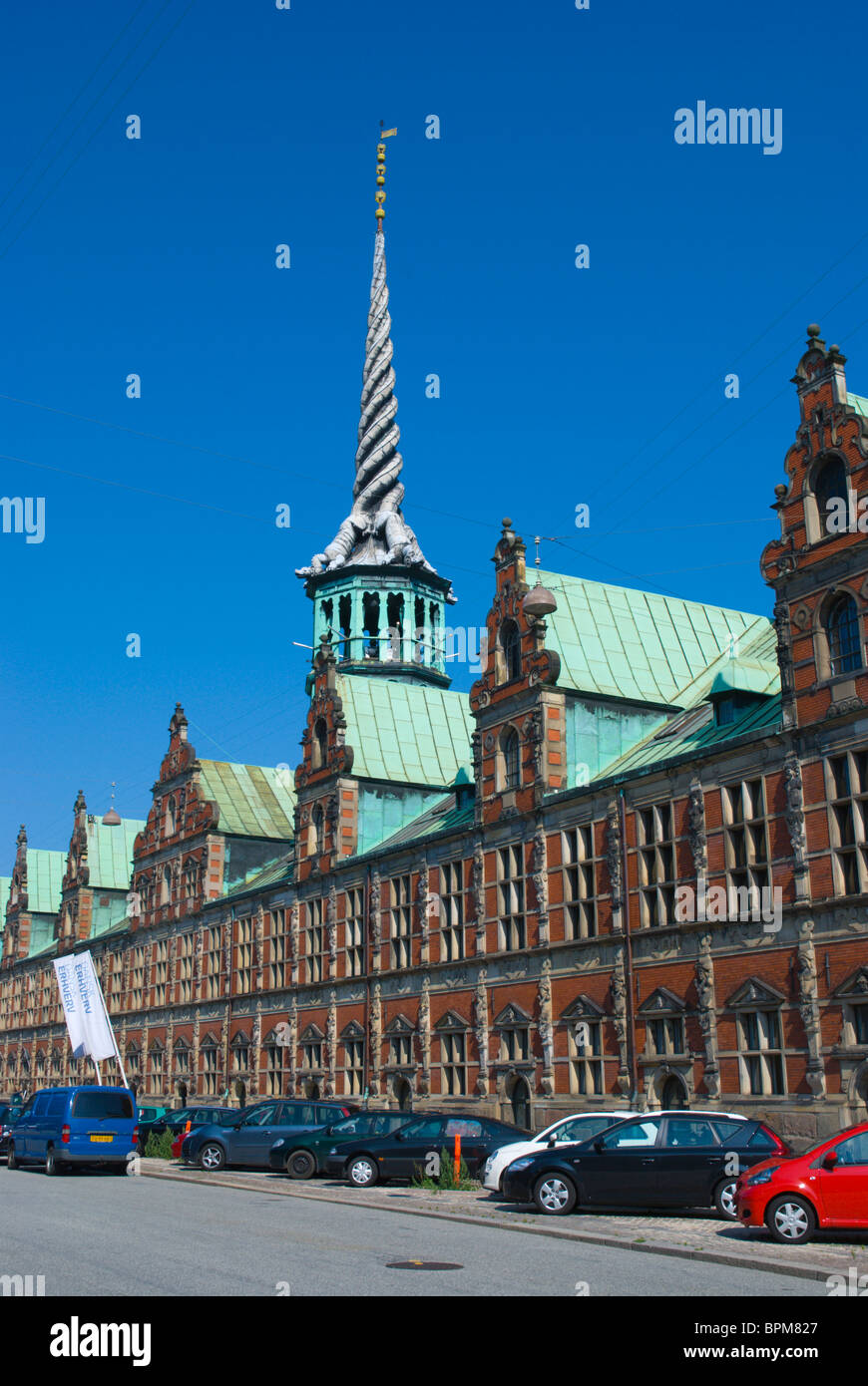 Borsen the stock exchange building on Slotsholmen island central Copenhagen Denmark Europe - Stock Image