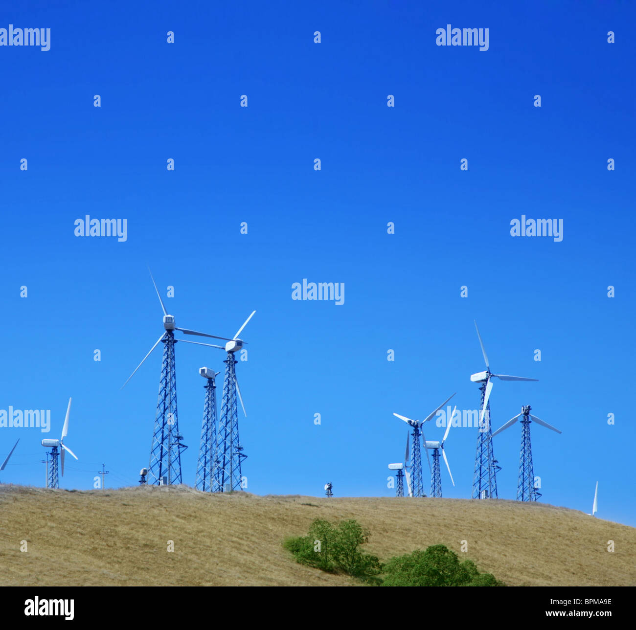 landscape with wind turbines - Stock Image