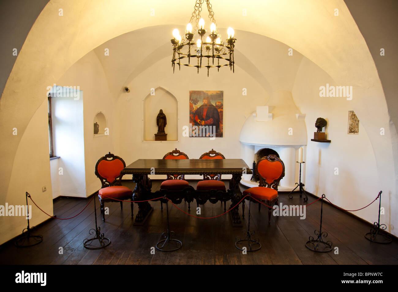 Interior Of The Bran Castle Aka Dracula Castle In Romania Stock - Live-bran-castle-pictures