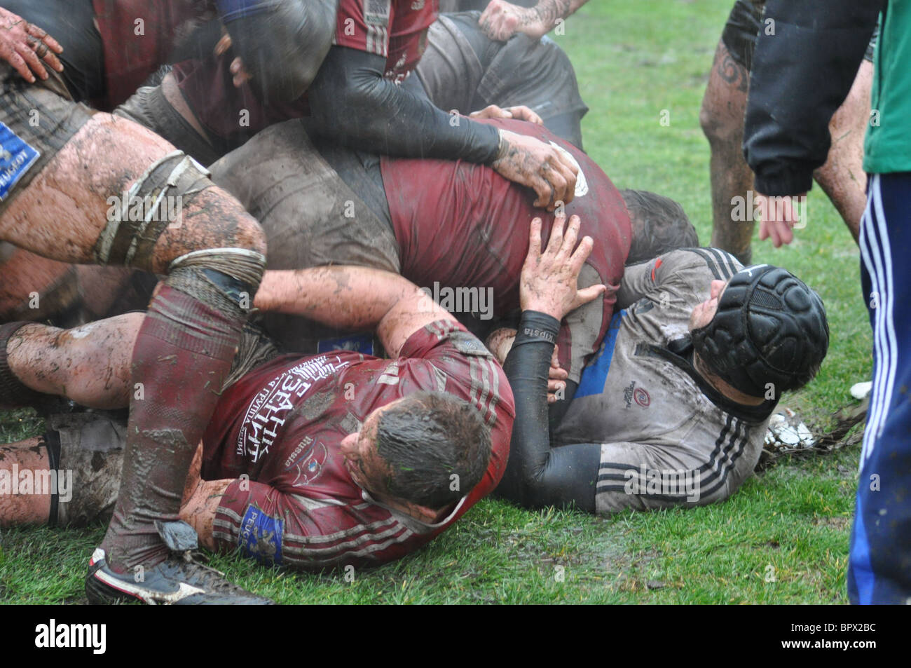 European Nations Cup rugby match: Russia 14 - 10 Portugal - Stock Image