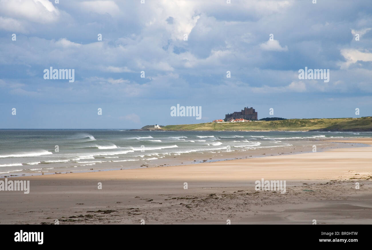 ross back sands northumberland Stock Photo