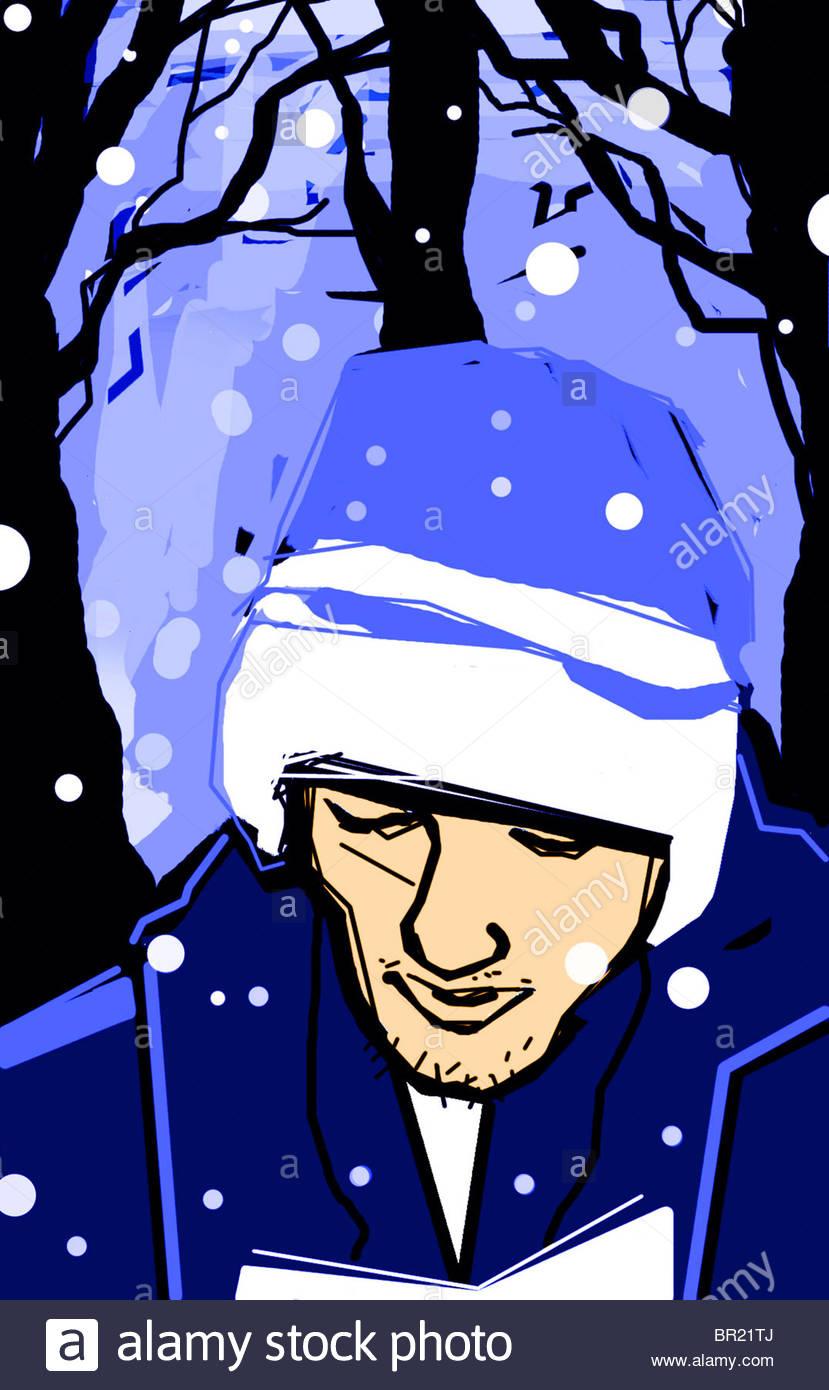 snowfall - Stock Image