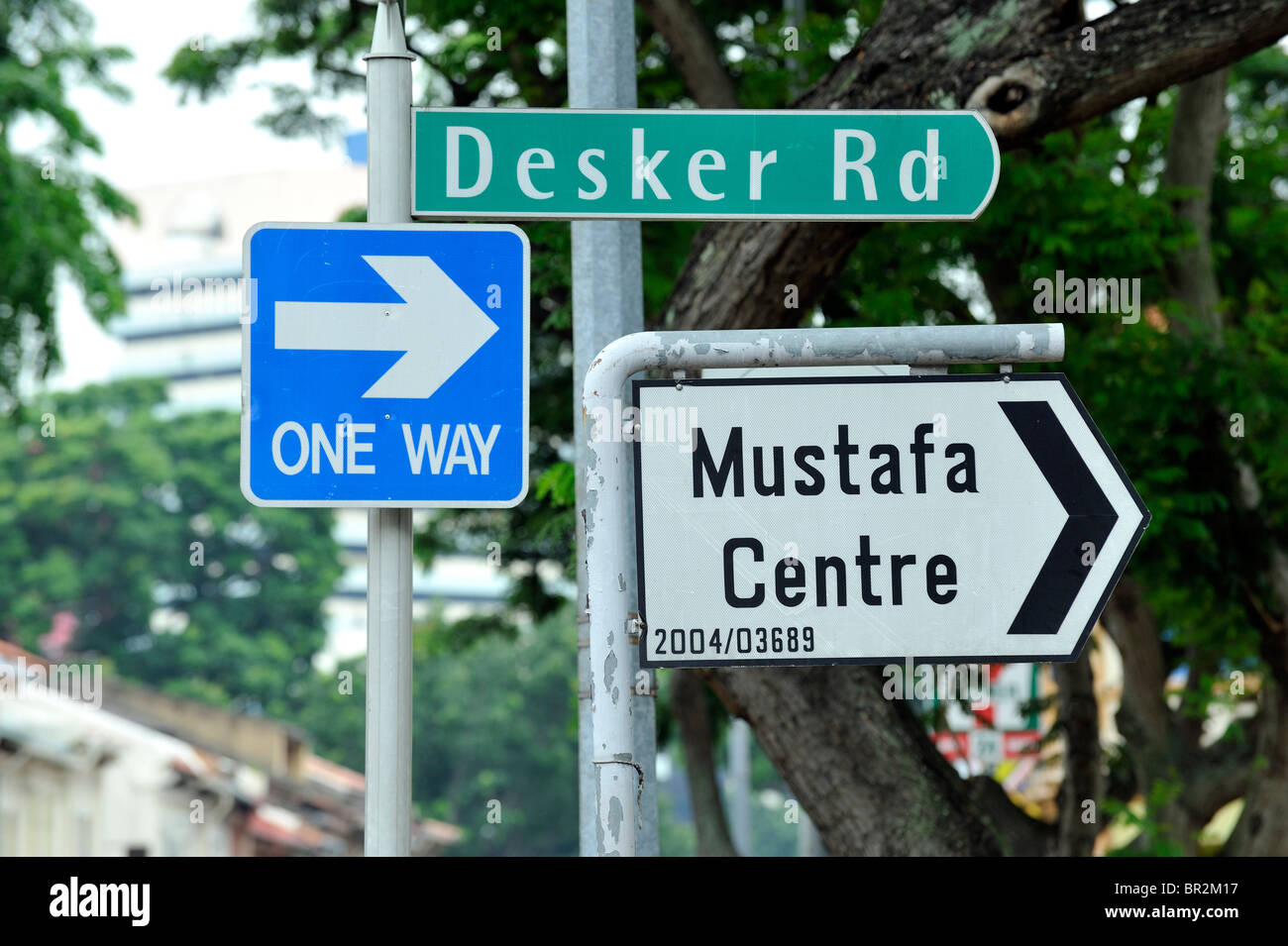 Sign for the famous Mustafa's department store in Little India, Singapore Stock Photo