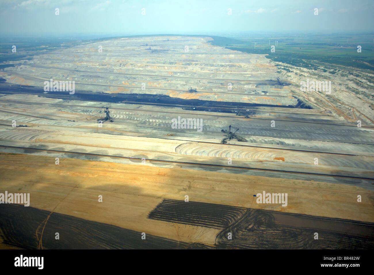 brown coal surface mining, Germany, North Rhine-Westphalia, Hambach - Stock Image