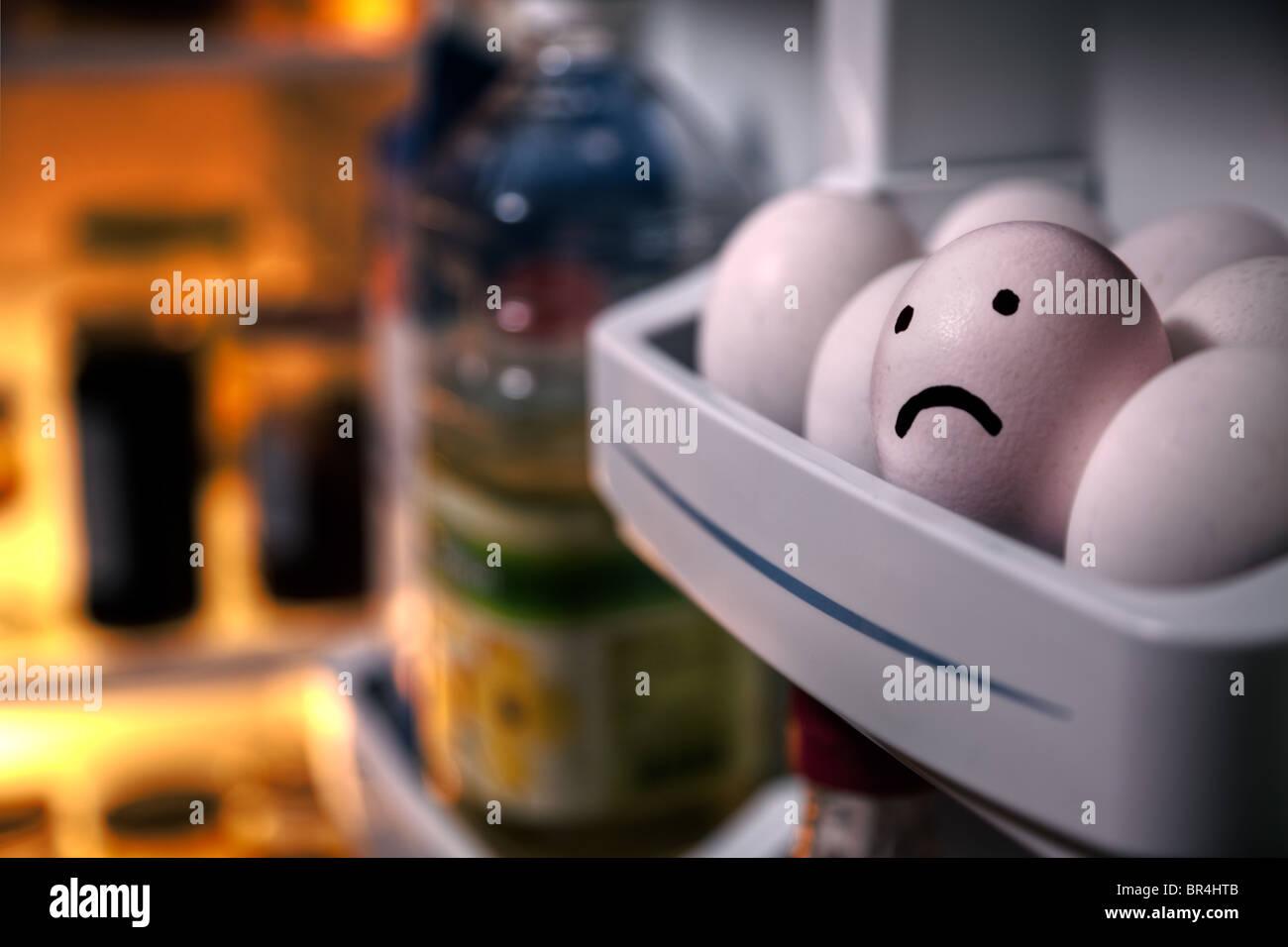 Sad egg - Stock Image