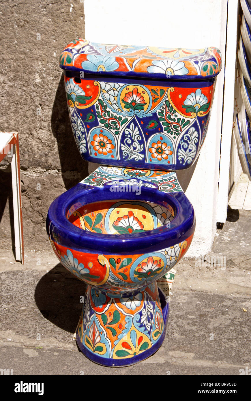 brightly-painted-toilet-for-sale-at-el-p