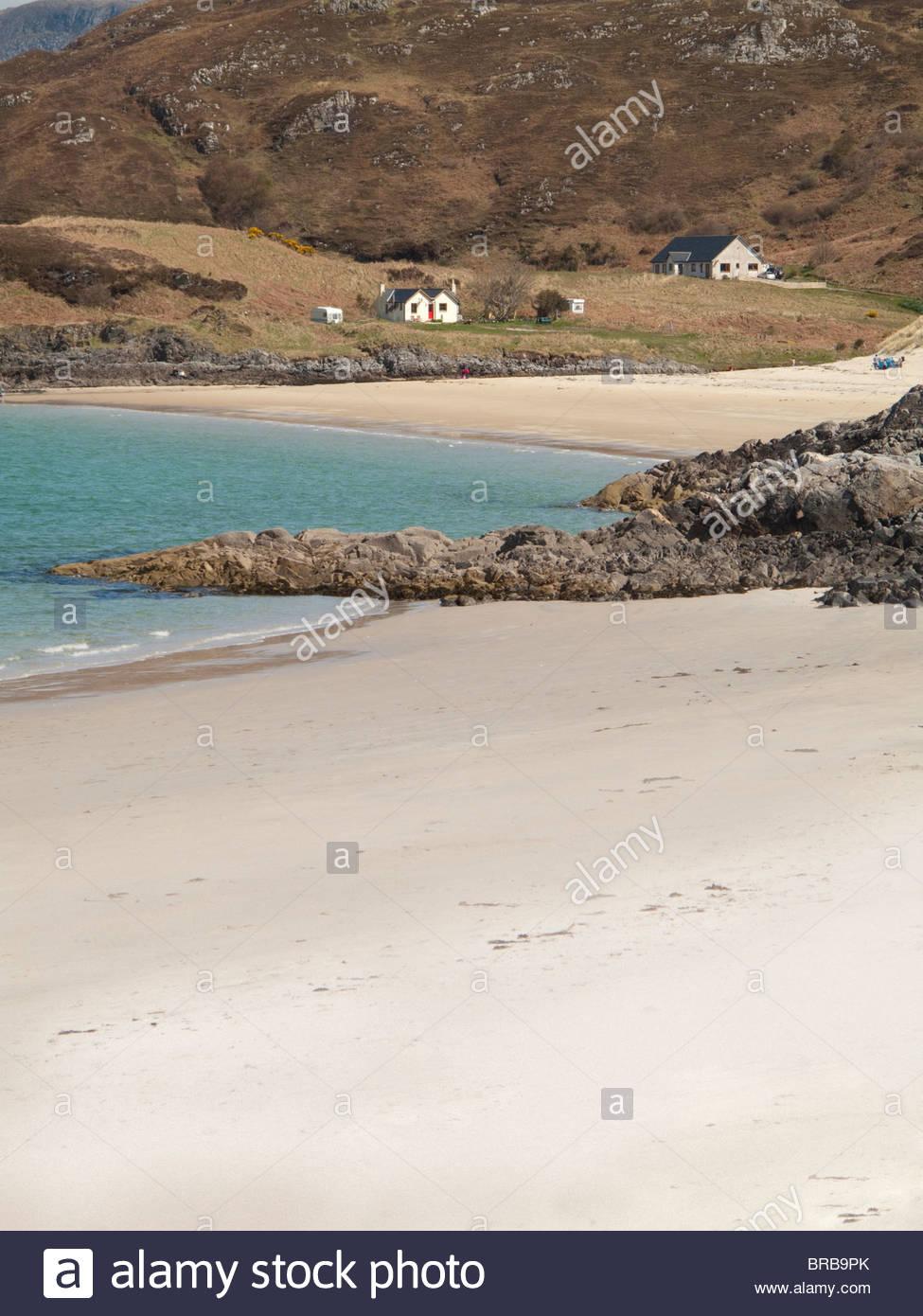 Houses near ocean beach - Stock Image