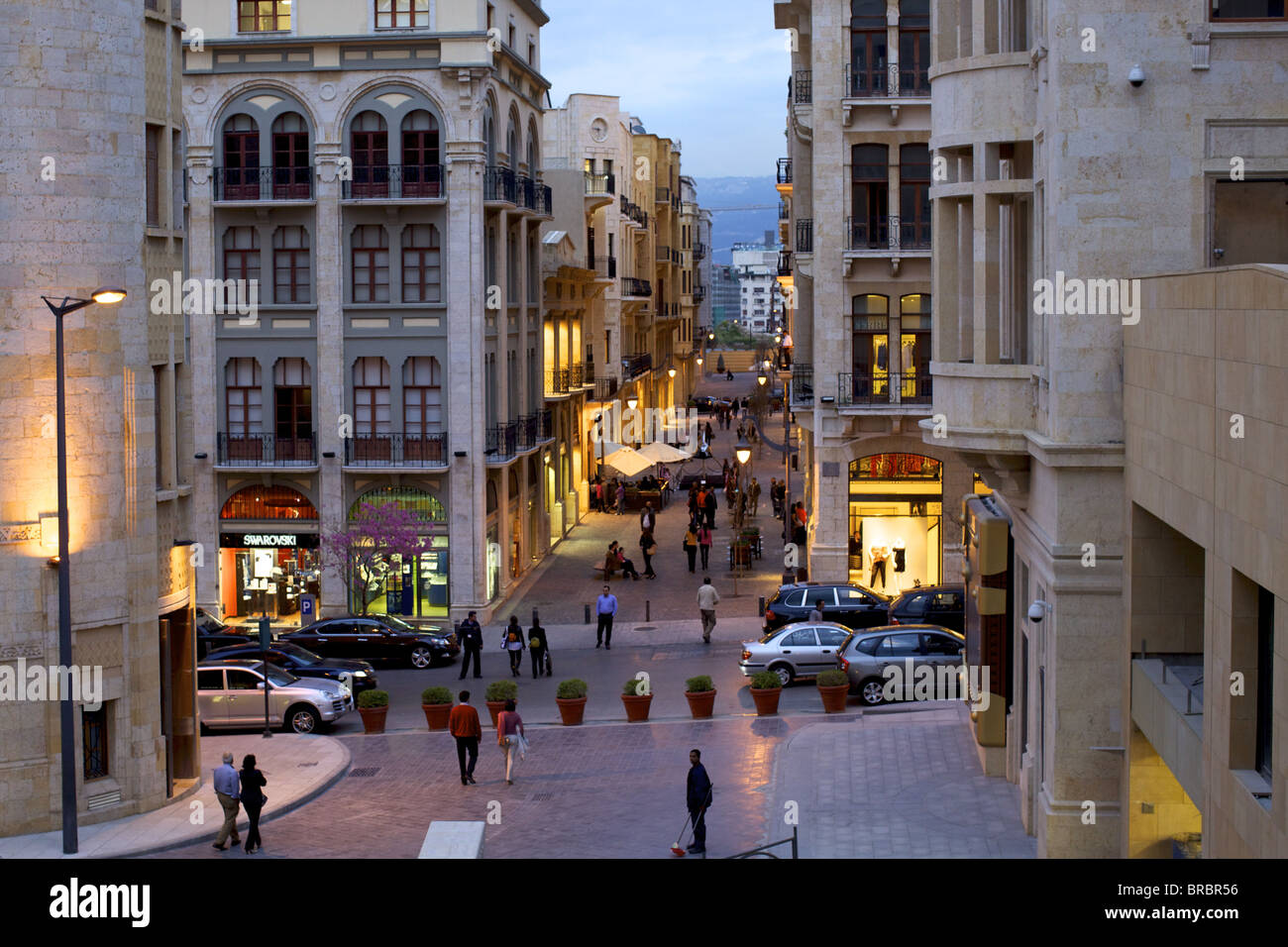 Solidere quarter, near the Place des Martyrs, Beirut, Lebanon, Middle East - Stock Image