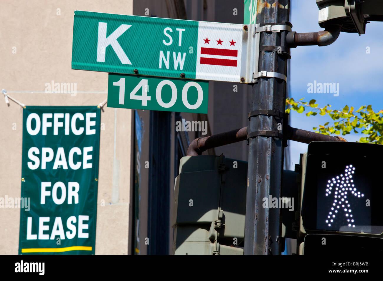 K Street, Washington DC - Stock Image