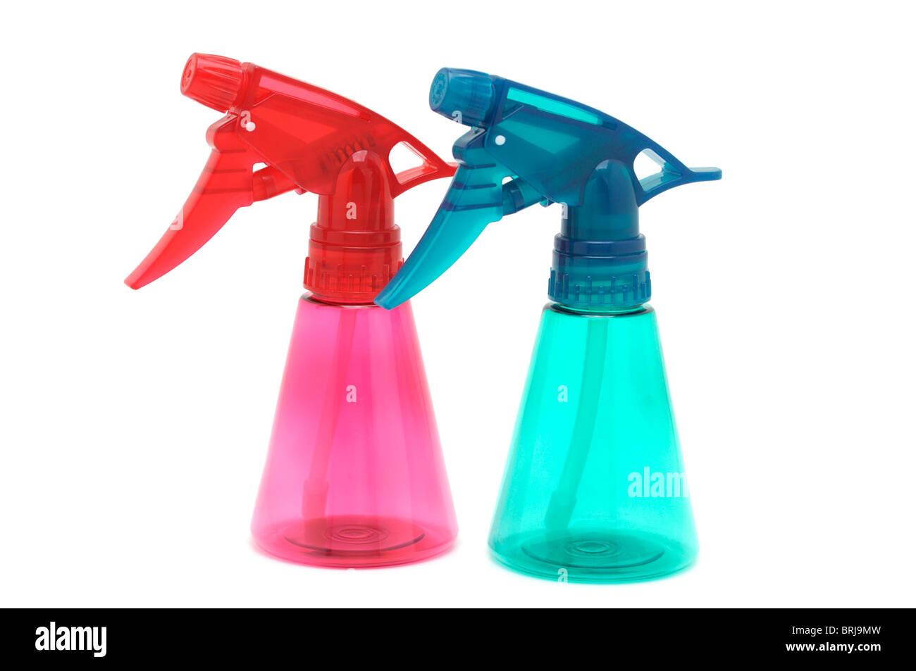 Empty Spray Bottles - Stock Image