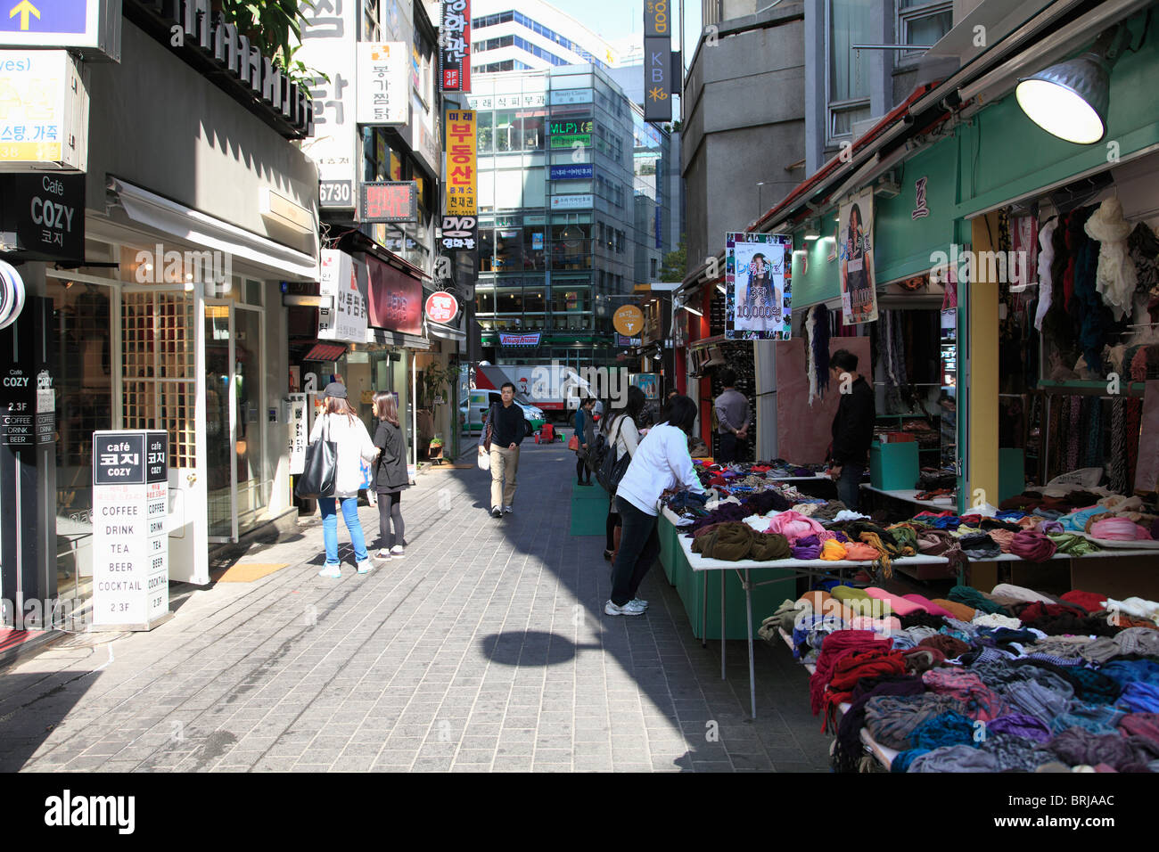 Myeong-dong, Myeongdong, Seoul, South Korea, Asia - Stock Image