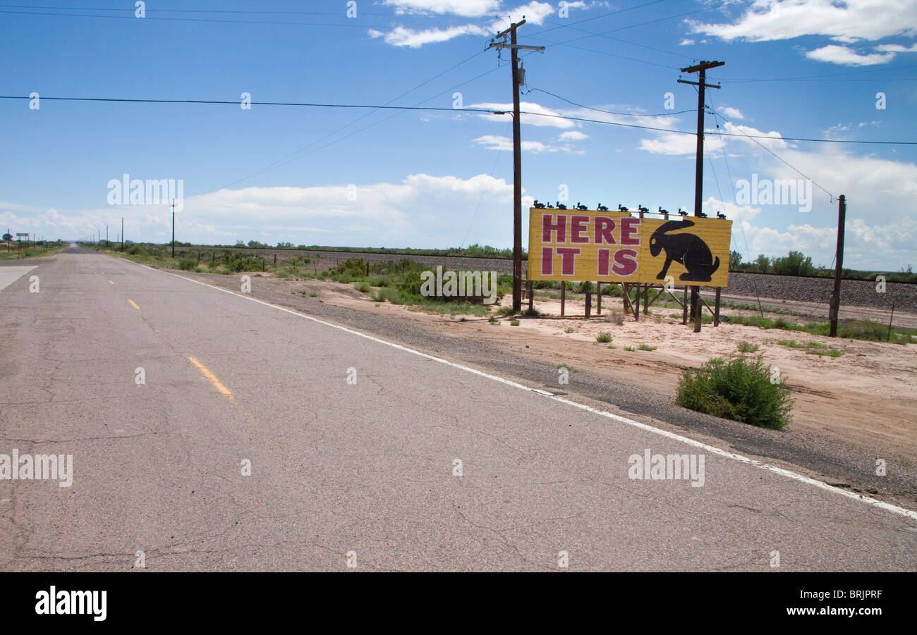 jackrabbit trading post Stock Photo