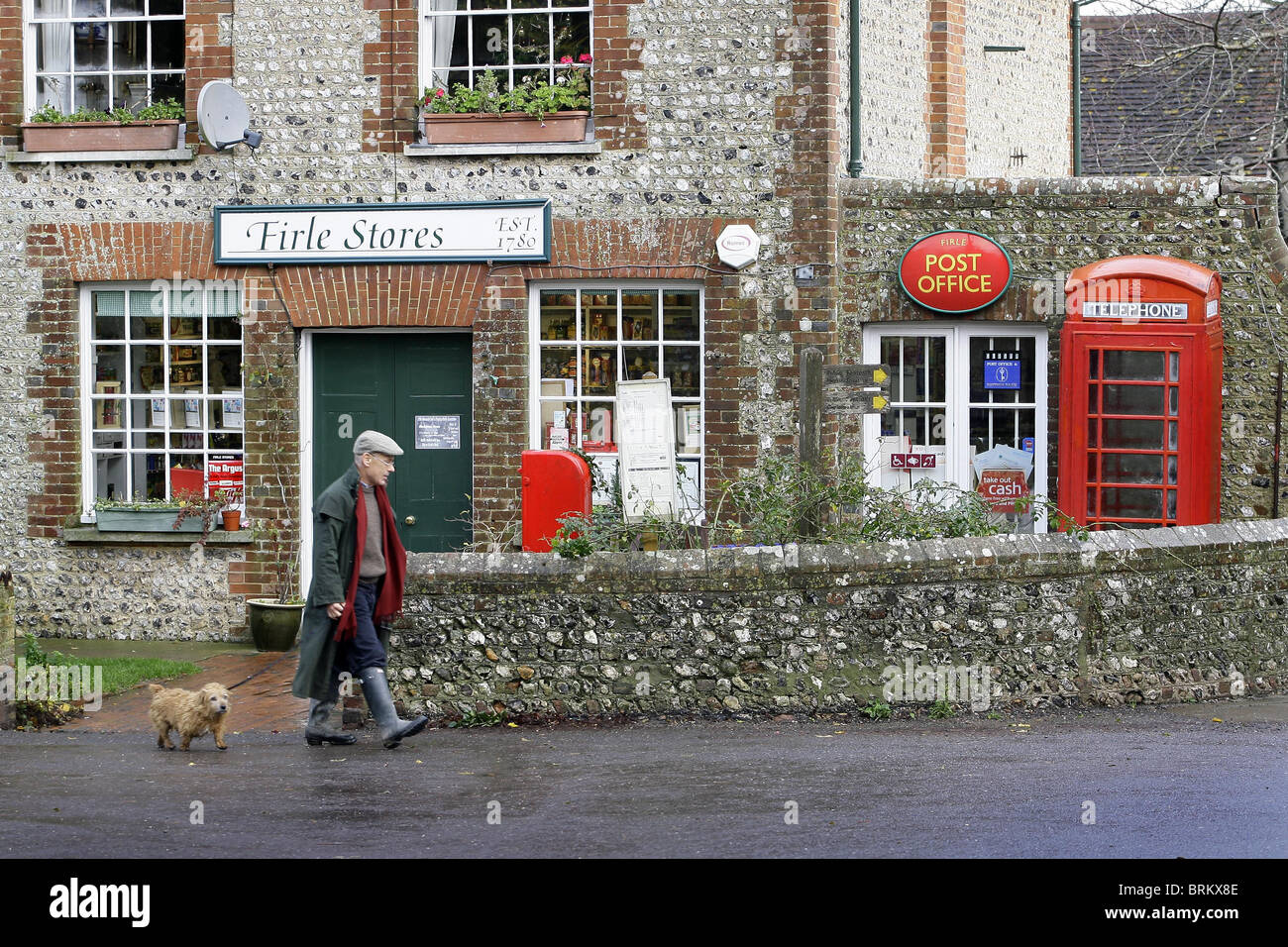 Rural Store and Post Office in Firle, East Sussex. Picture by James Boardman. Stock Photo