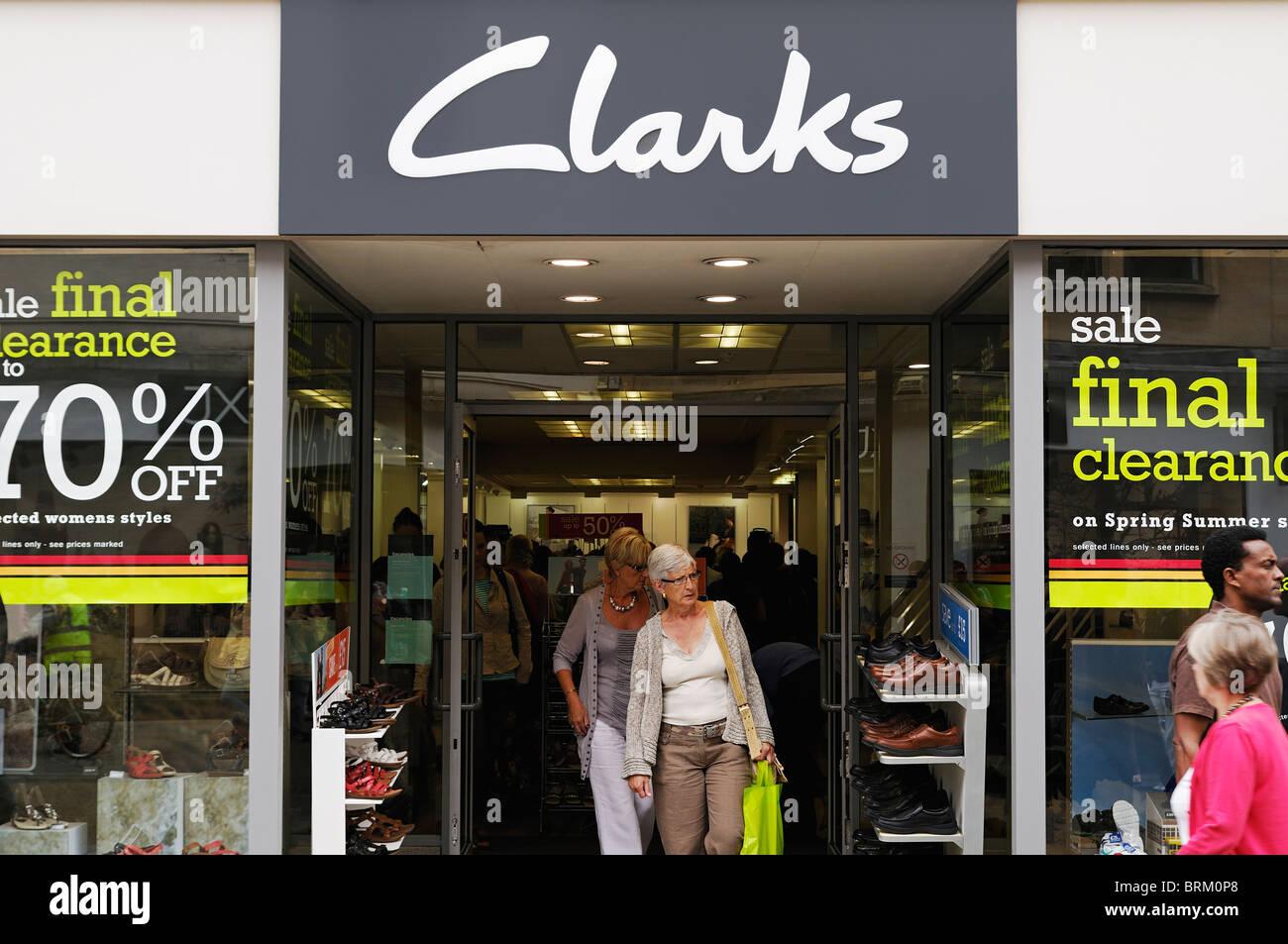 Clarks Shoe Shop, Oxford, UK. - Stock Image