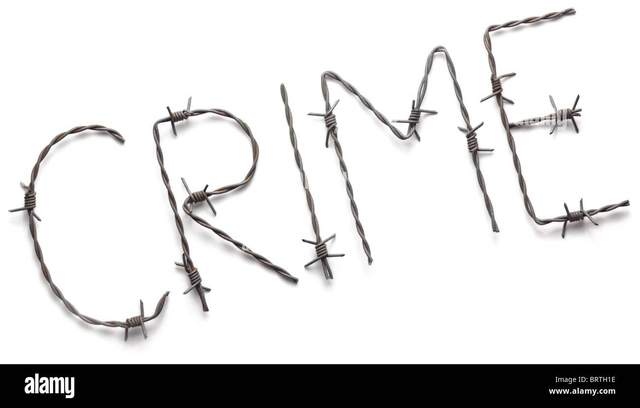Barbwire crime - Stock Image