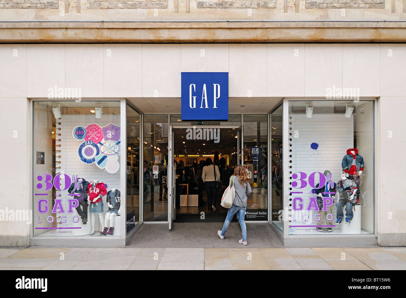 GAP Shop, Oxford, UK. - Stock Image