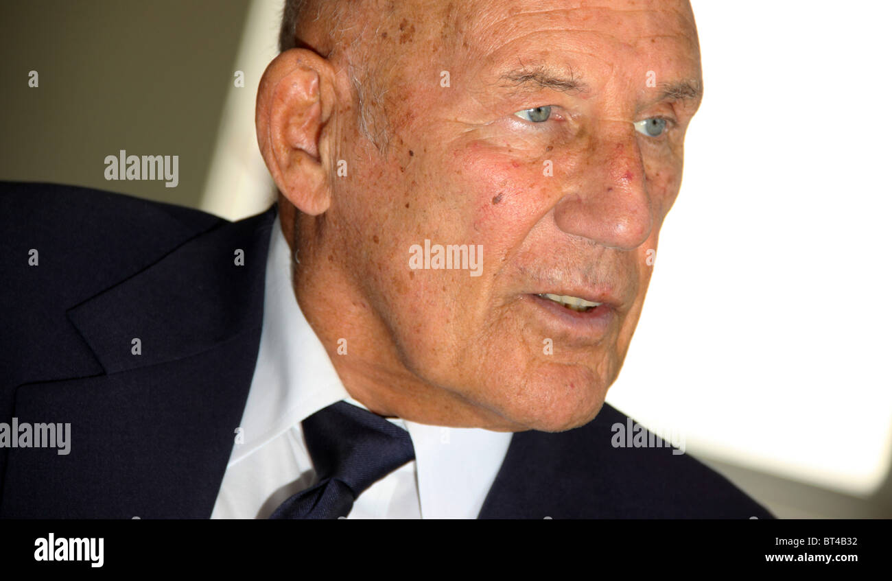 Stirling Moss racing driver Stock Photo